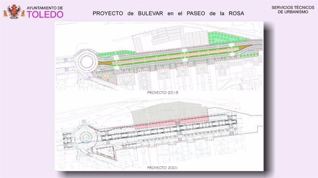 El Paseo de la Rosa se ampliará hasta la zona del Arroyo con una inversión de 1,