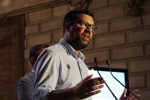 Antoni Noguera, en roda de premsa