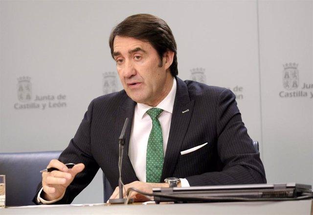 Suárez-Quiñones en la rueda de prensa posterior al Consejo de Gobierno