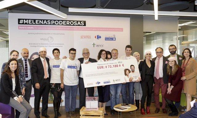 Empresas.- Fundación Carrefour y Ausonia donan 72.180 euros a la AECC destinados