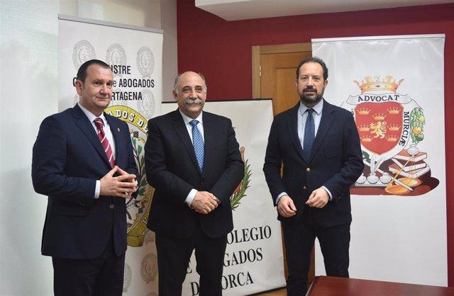 Colegios Abogados Cartagena, Lorca y Murcia se unen frente a la situación de imp