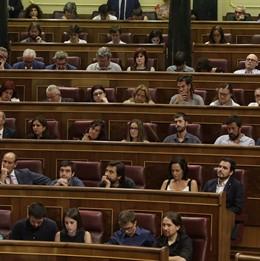 Pablo Iglesias, Íñigo Errejón i altres diputats de Podem