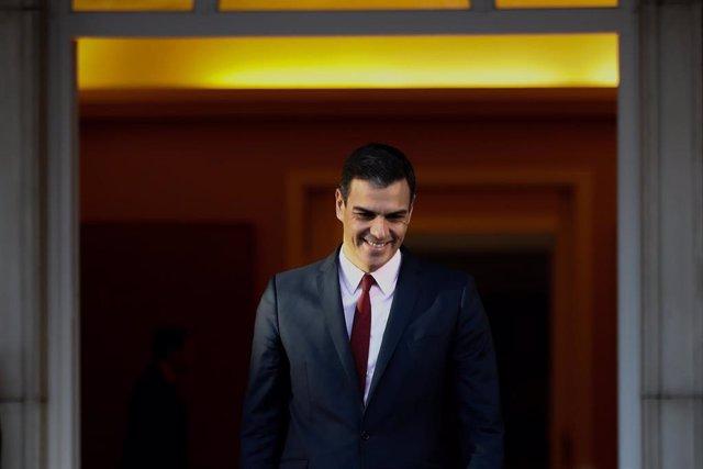 Pedro Sánchez recibe al primer ministro de Suecia Stefan Lfven