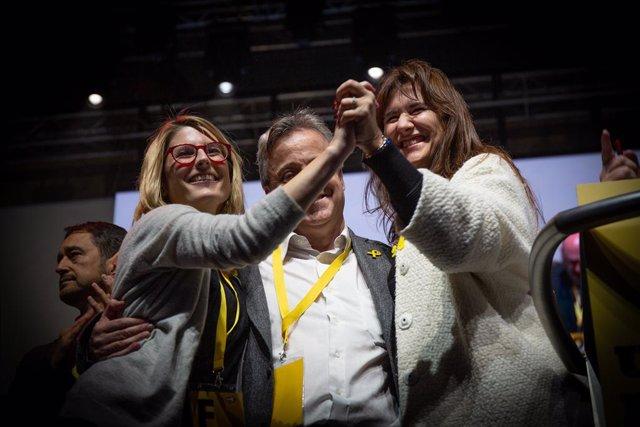 Quim Torra, Carles Puigdemont i Jordi Snchez clausuren el congrés de la Crida