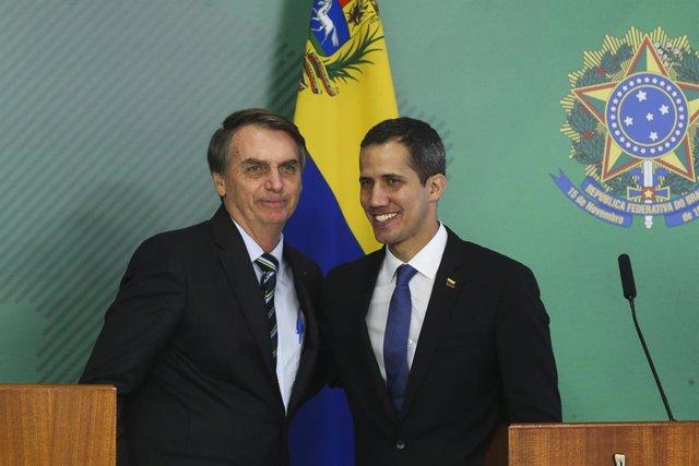 El líder opositor de Venezuela Juan Guaidó se reúne en Brasilia con el president