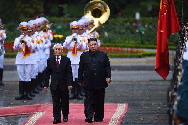 Kim Jong Un se reúne con el presidente de Vietnam