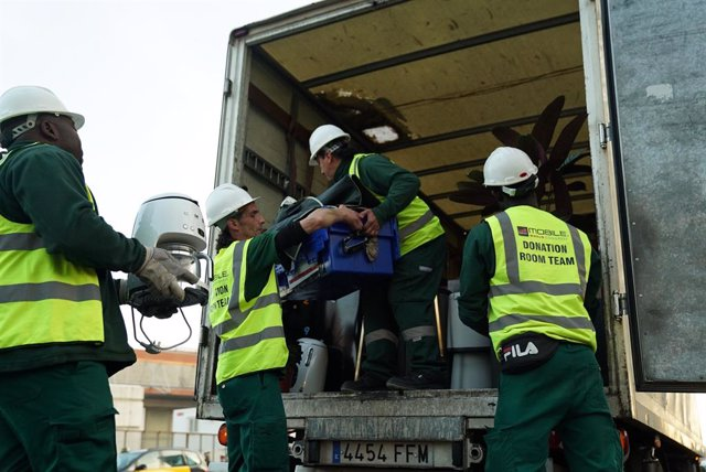Barcelona reaprofita material de l'MWC amb el programa Donation Room