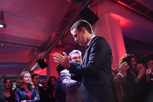 Presentación de la precampaña del PSOE para las elecciones generales del 28 de a