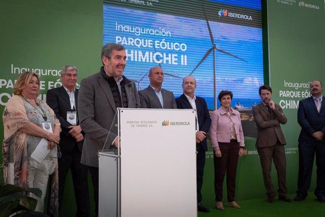 El parque eólico Chimiche II (Tenerife) reducirá más de 34.000 toneladas de emis