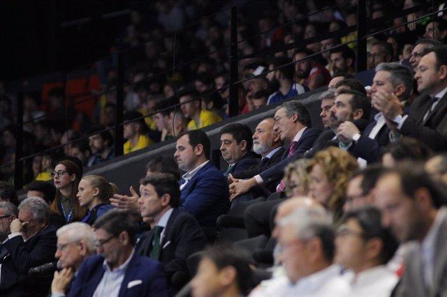 El presidente de la Diputación de Jaén, Francisco Reyes, en la Copa de España de