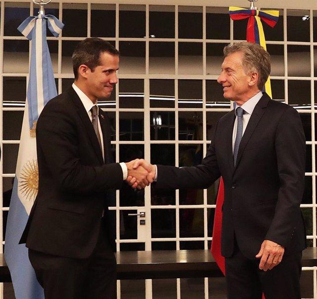 """Guaidó asegura que su reunión con Macri en Argentina fue """"excelente"""""""