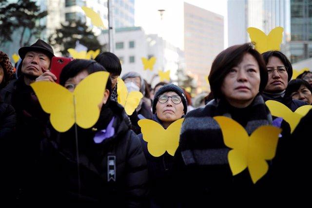 Surcoreanos protestan por las 'mujeres de confort'