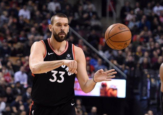 El pívot español Marc Gasol, en un partido con los Toronto Raptors