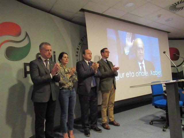 """El PNV dice que el """"legado"""" de Arzalluz es seguir """"levantando"""" Euskadi y """"constr"""