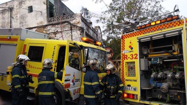 Cádiz.- Sucesos.- Al hospital a un varón afectado por inhalación de humo tras un