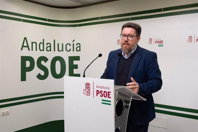 El portavoz adjunto del Grupo Socialista en el Parlamento andaluz, Rodrigo Sánch