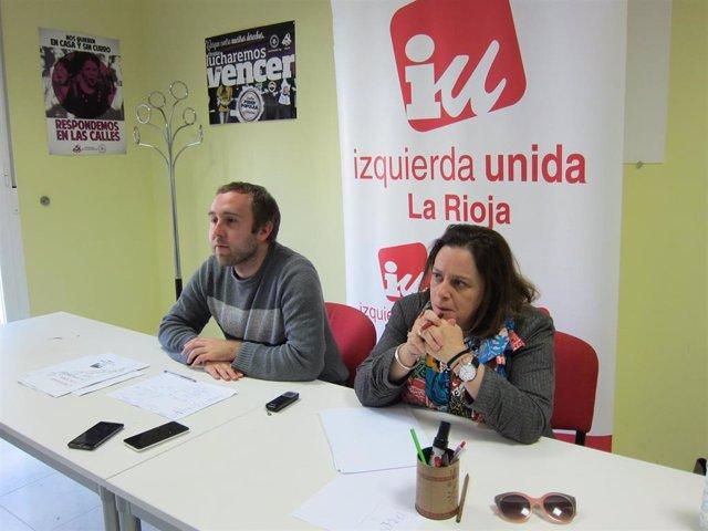Henar Moreno y Diego Mendiola, de IU La Rioja