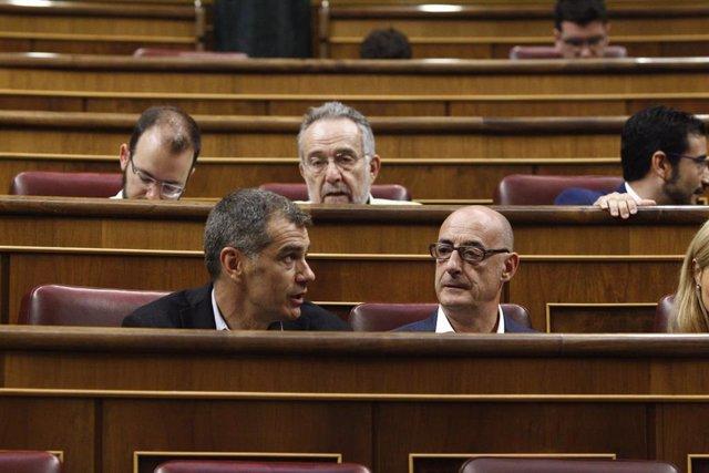 Toni Cantó y Félix Álvarez Felixuco en el Congreso