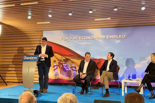 Valladolid.- Fernández Mañueco en el Foro Economía y Empleo del PP