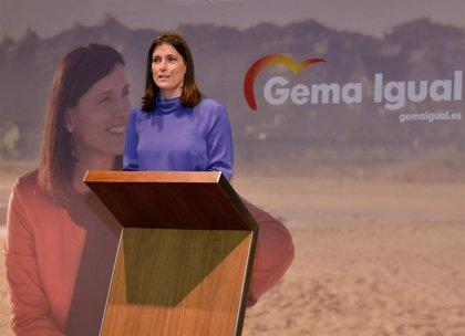 """Gema Igual se estrena como candidata mostrando el """"avance"""" de Santander"""