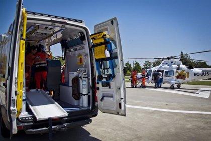 Siete heridos, entre ellos un bebé, tras chocar varios vehículos en la A-335 en Monda (Málaga)