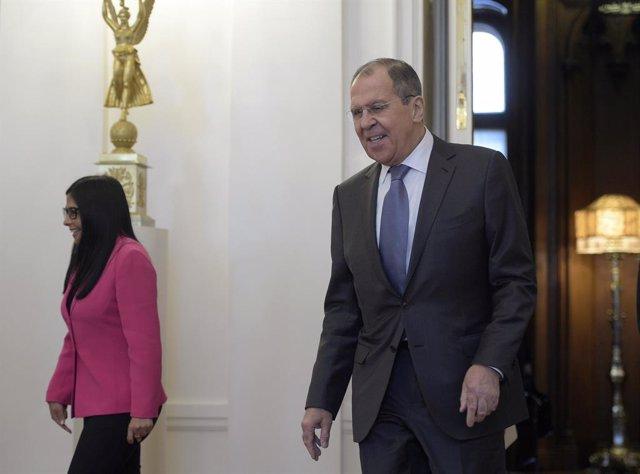Venezuela VP Delcy Rodriguez in Moscow