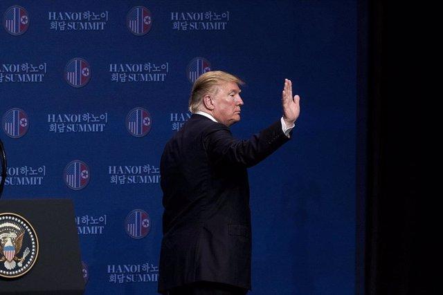 Presidente de Estados Unidos, Donald Trump, en la cumbre de Hanói