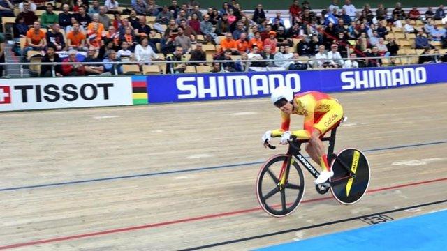 Albert Torres, en el Campeonato del Mundo de ciclismo en pista