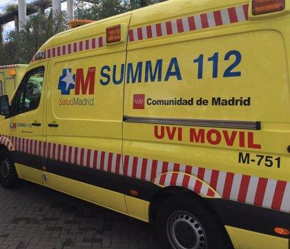 Un motorista de 26 años, en estado muy grave tras sufrir un accidente en Madrid