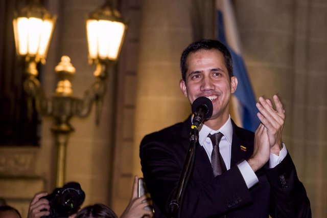 Venezuela\'s self proclaimed interim president Guaido in Argentina