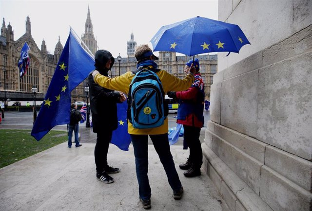Anti-Brexit protest in England