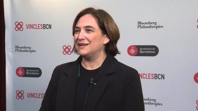 L'alcaldessa de Barcelona, Ada Colau, assisteix a la trobada del Programa Vincle