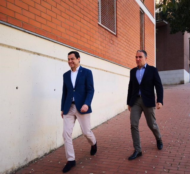 Juan Manuel Moreno i Elías Bendodo, president i conseller de la Junta d'Andalu