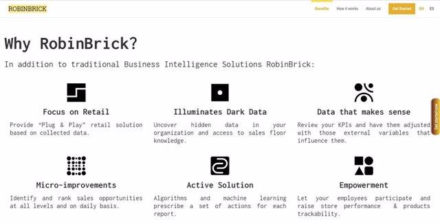 Web de la startup Robinbrick