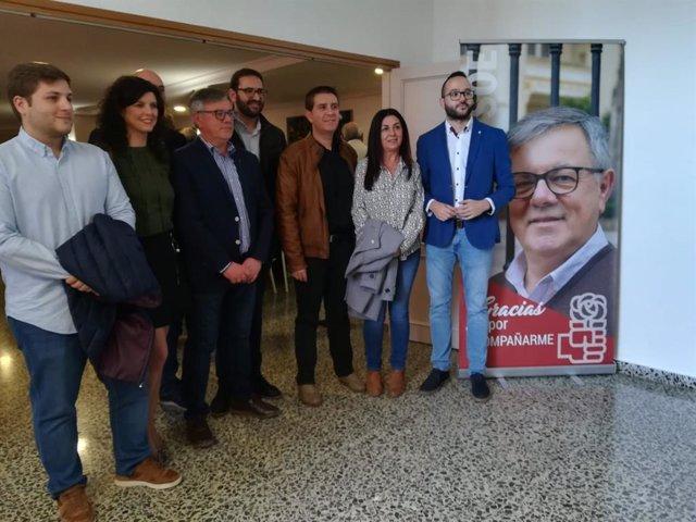 Gutiérrez en la presentación del candidato a la Alcaldía de Hellín