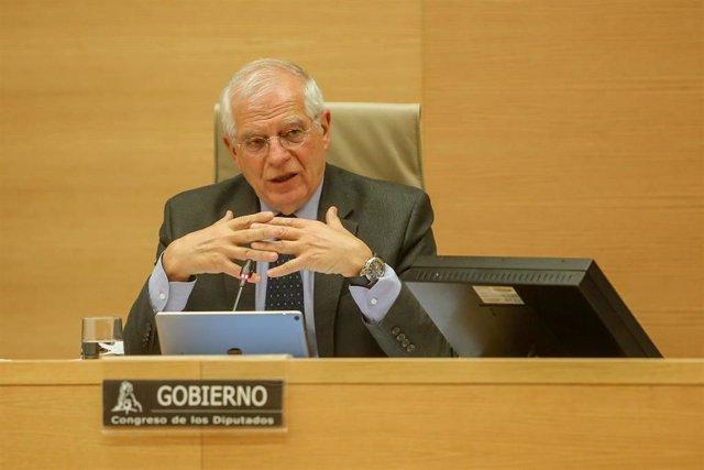 Comparecencia de Josep Borrell en el Congreso para explicar la posición española