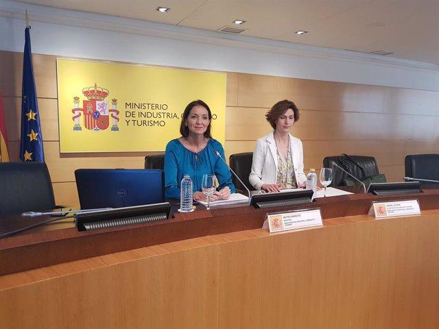 Rueda de prensa de la ministra de Industria, Turismo y Comerico, Reyes Maroto