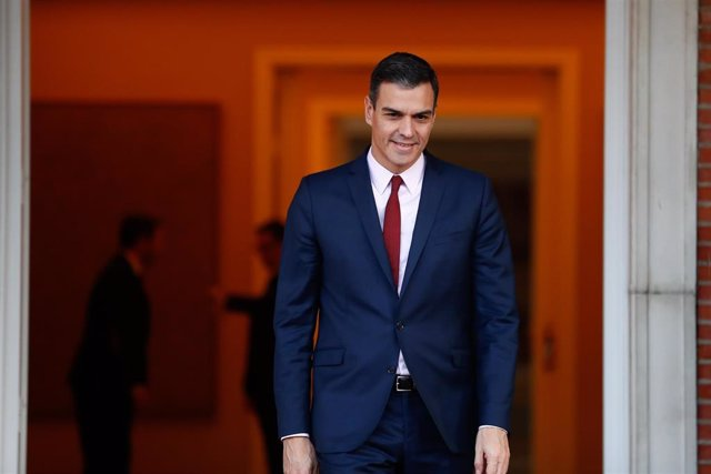 Pedro Sánchez recibe al primer ministro de Suecia Stefan Löfven