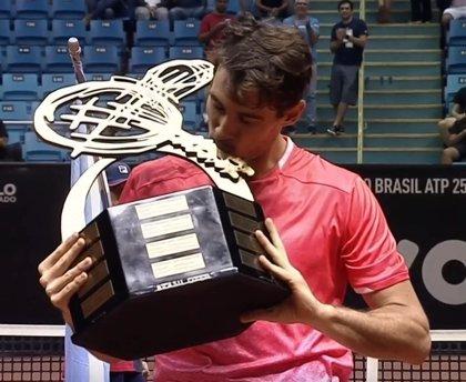 El tenista argentino Pella estrena su palmarés en Sao Paulo