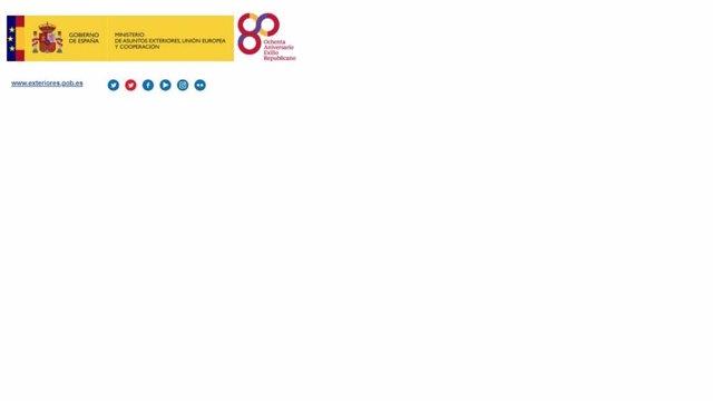 Exteriores retira de sus correos de difusión pública el logo conmemorativo del e