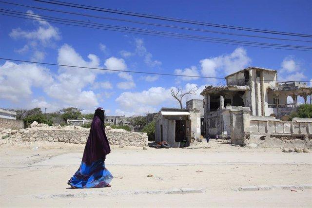 Mujer con Burka en Somalia