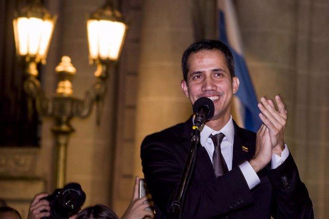 Venezuela\'s self proclaimed interim president Guaido in Argentina