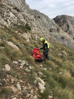 Rescatado un montañero de 20 años tras sufrir una caída en la Sierra de Codés