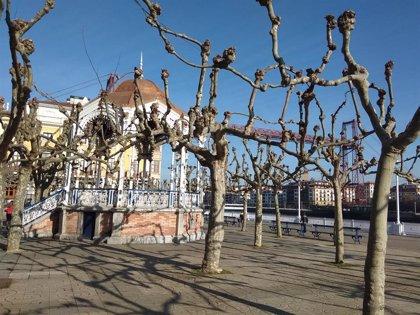 Viento sur y temperaturas que llegarán a los 20 grados este martes en Euskadi