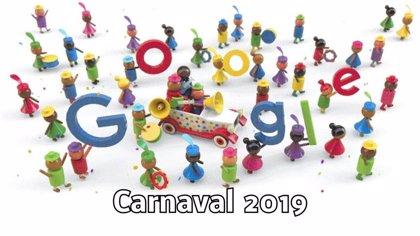 Google celebra con un divertido 'doodle' el Carnaval 2019