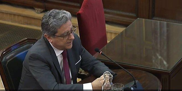 Enric Millo declara com a testimoni en el judici del procés al Tribunal Suprem
