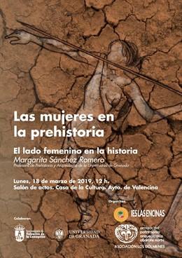 """Sevilla.- Conferencia en Valencina sobre """"las mujeres en la Prehistoria"""" con mot"""