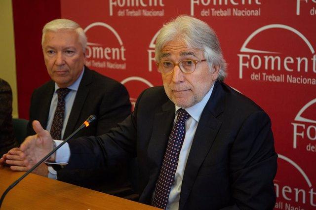 Els presidents de Foment del Treball i la Cecot, Josep Sánchez Llibre i Antoni A