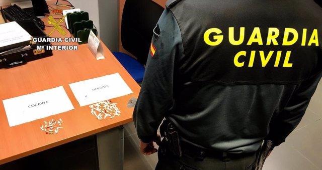Huelva.- Sucesos.- Detenido en Bollullos por tráfico de drogas con 78 dosis de d