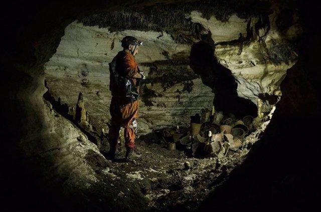 """Redescubren Balamkú, un """"tesoro científico"""" maya que fue hallado y tapiado en 19"""